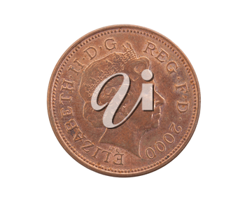 Two Pence coin isolated over a white background