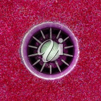Hole in One - Golf ball in the cup, pink