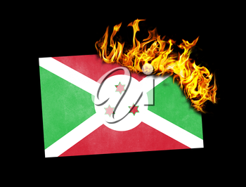 Flag burning - concept of war or crisis - Burundi