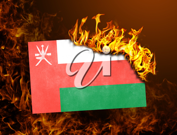 Flag burning - concept of war or crisis - Oman