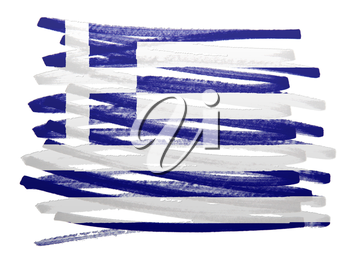 Flag illustration made with pen - Greece