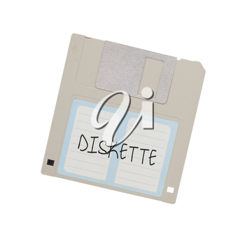 Floppy Disk - Tachnology from the past, isolated on white - Diskette