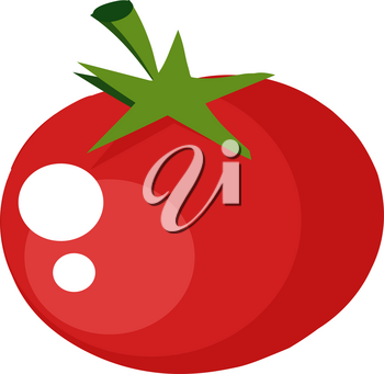 Clipart Image of A Shiny Red Tomato