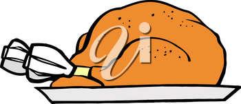 Clipart Image of A Thanksgiving Turkey