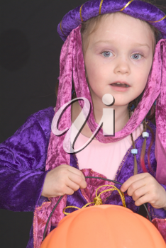Stock Photo: A Little Girl Dressed As a Princess