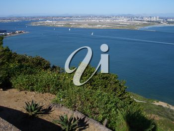 Stock Photo of San Diego Bay, San Diego From Pt. Loma