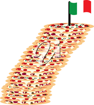 Clip Art Image of the Leaning Tower of Pizza