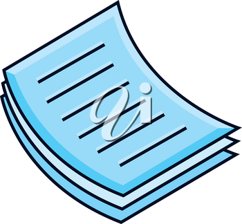 Clip Art Image of a Stack of Papers Icon