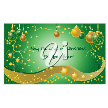 Clip Art Illustration of a Star Filled Christmas Background With Christmas Message