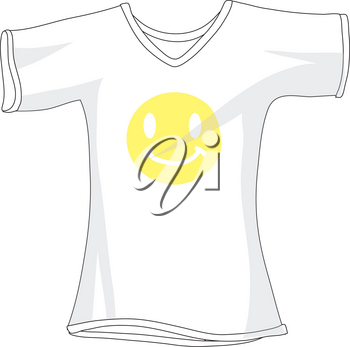 Plain White T-Shirt With a Smiley Face