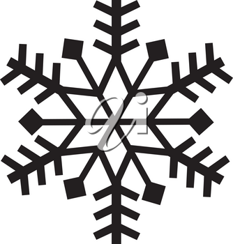 Royalty Free Clipart Illustration of a Snowflake