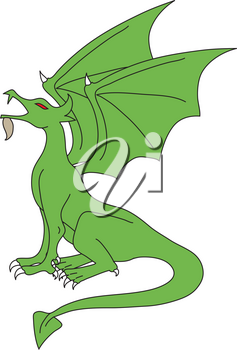 Royalty Free Clipart Illustration of a Dragon