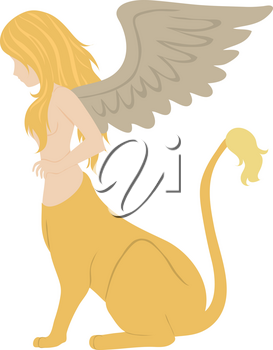 Royalty Free Clipart Illustration of a Sphinx