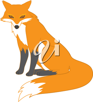 Clipart Illustration of a Red Fox