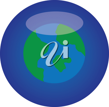 Clipart Illustration of a Earth Icon