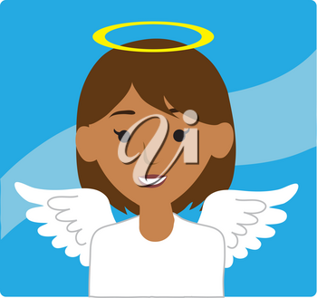 Clipart Illustration of an Angel