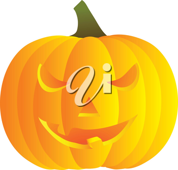 Clip Art Illustration Of A Smiling Jack O Lantern
