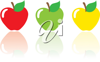 Clip Art Illustration Of A Group Of Ripe Apples