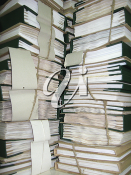 the image of pile of archive papers