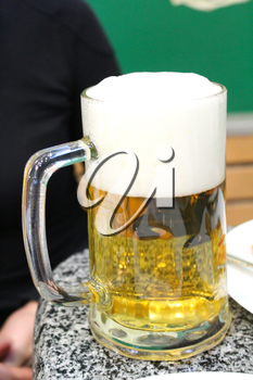 the image of glass transparent with beer