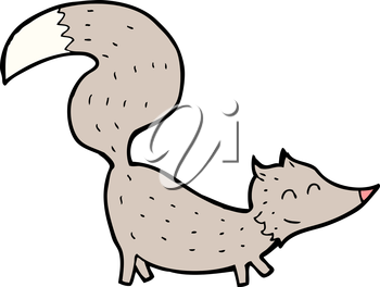 Royalty Free Clipart Image of a Little Wolf