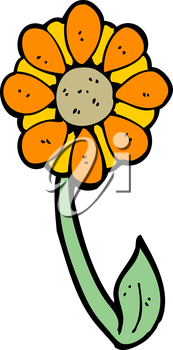 Royalty Free Clipart Image of a Flower