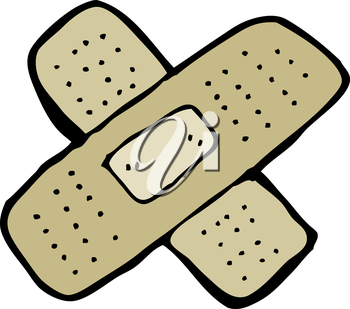 Royalty Free Clipart Image of a bandage