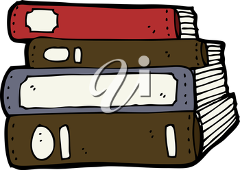 Royalty Free Clipart Image of Old Books