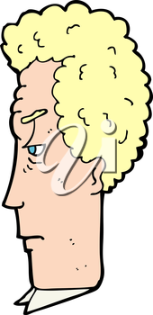 Royalty Free Clipart Image of an Annoyed Man