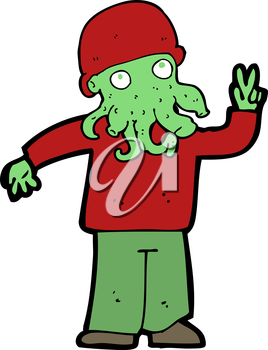 Royalty Free Clipart Image of an Alien Monster