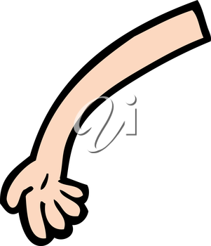 Royalty Free Clipart Image of an Arm