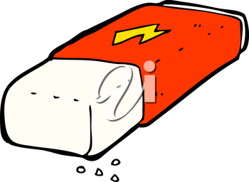 Royalty Free Clipart Image of an Eraser