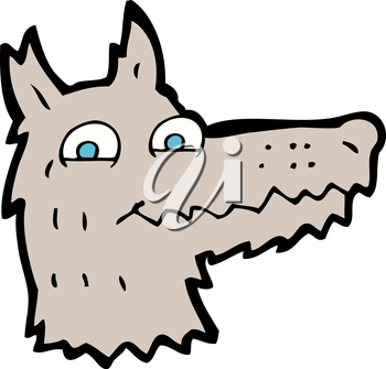 Royalty Free Clipart Image of a Wolf Head