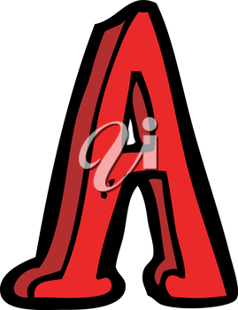 Royalty Free Clipart Image of a Letter A