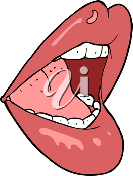 Royalty Free Clipart Image of Lips