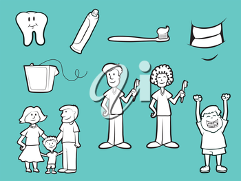 Collection of family dentist cartoons
