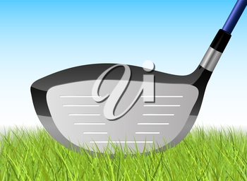 Golf Driver Resting in Grass