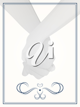 layout for wedding invitation, save the date, or thank you cards