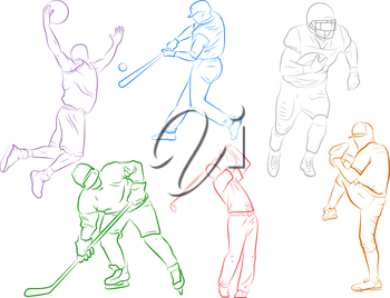 various sports athlete icons