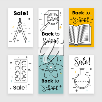Back to school background, vector concept, design template