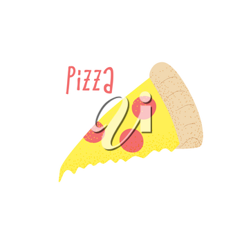 Pizza slice vector concept, hot italian pizza design
