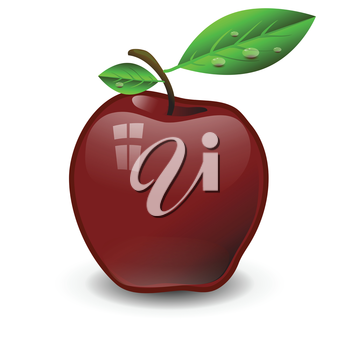 colorful illustration with  red apple for your design