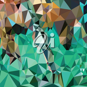 colorful illustration  with abstract mosaic  background