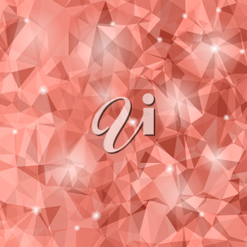 Abstract Red Polygonal Background. Abstract Polygonal Pattern