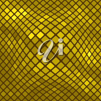 Yellow Square Pattern. Abstract Yellow Square Background