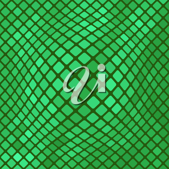 Green Diagonal Square Pattern. Abstract Green Square Background