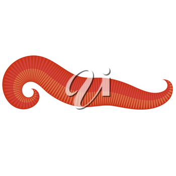 Animal Earth Red Worm for Fishing on White Background.