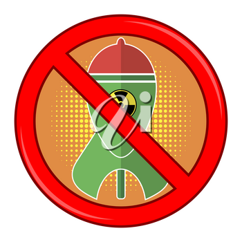 No War Sign Isolated on White Background. Green Atomic Bomb with Radiation Sign on Red Background. Nuclear Rocket. Weapon Icon. Explode Flash, Cartoon Explosion, Nuclear Burst.
