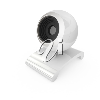 Web-cam on a white background
