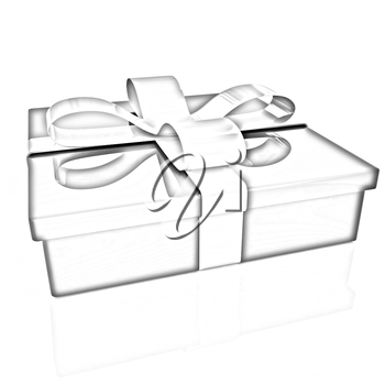 Gifts with ribbon on a white background